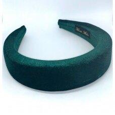 apie 40 mm pločio, plaukų lankelio pagrindas, žalia spalva, 1 vnt.