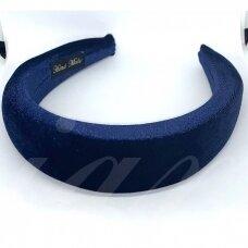 apie 40 mm pločio, plaukų lankelio pagrindas, mėlyna spalva, 1 vnt.