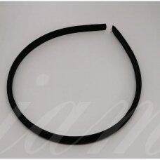 apie 9 mm pločio, plaukų lankelio pagrindas, juoda spalva, 1 vnt.