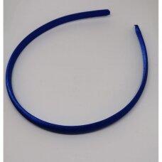 apie 9 mm pločio, plaukų lankelio pagrindas, mėlyna spalva, 1 vnt.