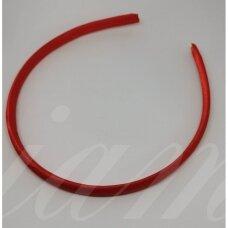 apie 9 mm pločio, plaukų lankelio pagrindas, raudona spalva, 1 vnt.