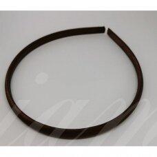 apie 9 mm pločio, plaukų lankelio pagrindas, ruda spalva, 1 vnt.