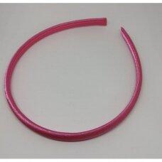 apie 9 mm pločio, plaukų lankelio pagrindas, šviesi, rožinė spalva, 1 vnt.