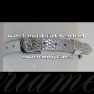 ap0004 apie 22 cm ilgis, 7.5 mm plotis, sidabrinė spalva, apyrankė, 1 vnt.