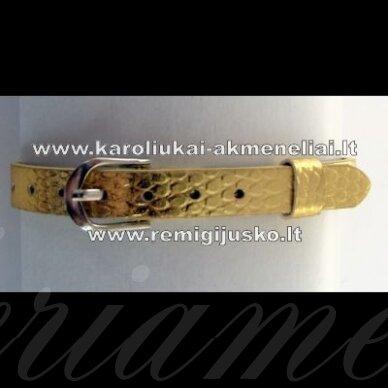 ap0005 apie 22 cm ilgis, 7.5 mm plotis, auksinė spalva, apyrankė, 1 vnt.