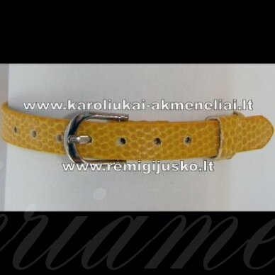 AP0006 apie 22 cm ilgis, 7.5 mm plotis, geltona spalva, apyrankė, 1 vnt.