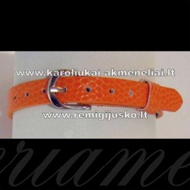 ap0007 apie 22 cm ilgis, 7.5 mm plotis, oranžinė spalva, apyrankė, 1 vnt.