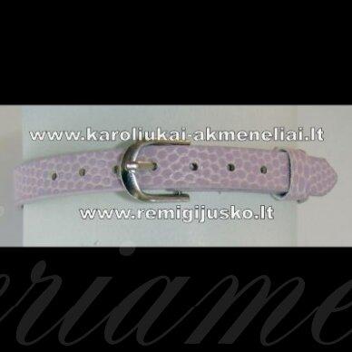 ap0010 about 22 cm ilgis, 7 mm width, light, purple color, bracelet, 1 pc.