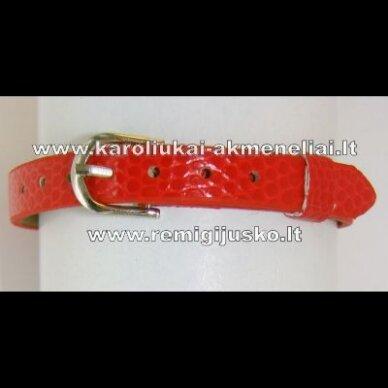 ap0013 apie 22 cm ilgis, 7 mm plotis, raudona apyrankė, 1 vnt.