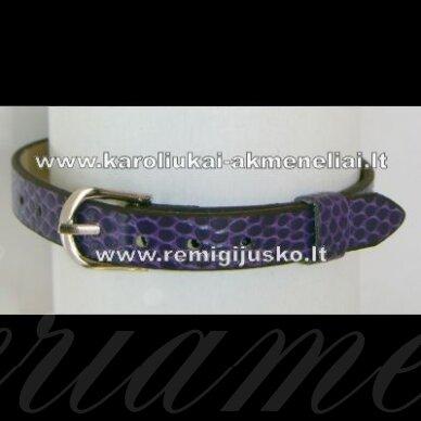 ap0015 apie 22 cm ilgis, 7 mm plotis, violetinė spalva, apyrankė, 1 vnt.
