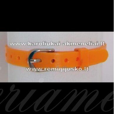 ap0021 apie 220 x 7 mm, oranžinė spalva, apyrankė, 1 vnt.