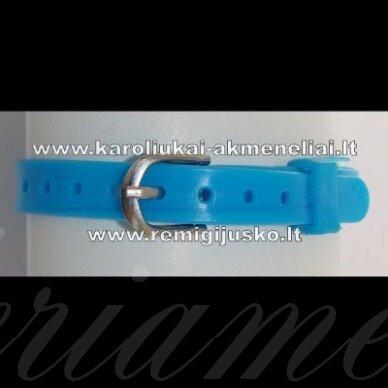 ap0023 apie 21 cm ilgis, 7 mm plotis, mėlyna spalva, apyrankė, 1 vnt.