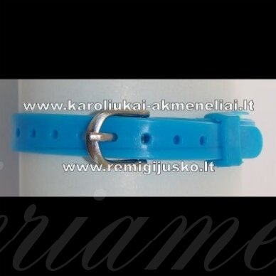 ap0023 apie 220 x 7 mm, mėlyna spalva, apyrankė, 1 vnt.