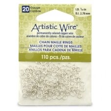 Artistic Wire® Chain Maille Rings 20 Gauge/2.78mm Silver (110 pcs)
