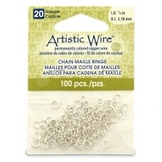 Artistic Wire® Chain Maille Rings 20 Gauge/3.18mm Silver (100 pcs)