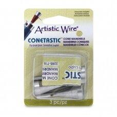 Artistic Wire® Conetastic™ apverčiamas strypas darbui su vielute (3 vnt)