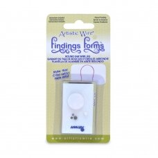 Artistic Wire® Findings Forms™ įrankis formuoti apvaliems auskarų kabliukams