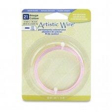 Artistic Wire® plokščia vielutė 21 Gauge/0.75mm rausvo aukso spalvos (0.91m/3ft)