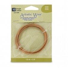 Artistic Wire® vielutė 10 Gauge/2.6mm Natural (1.5m/5ft)