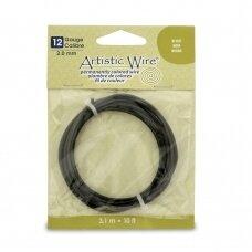 Artistic Wire® vielutė 12 Gauge/2.1mm Black (juoda) (3m/10ft)