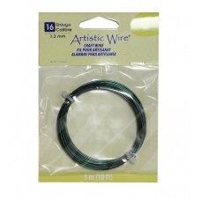Artistic Wire® vielutė 16 Gauge/1.3mm Green (žalia) (3m/10ft)