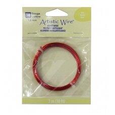 Artistic Wire® vielutė 16 Gauge/1.3mm Red (raudona) (3m/10ft)