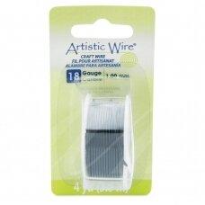 Artistic Wire® vielutė 18 Gauge/1mm Black (juoda) (3.6m/11.8ft)
