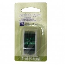 Artistic Wire® vielutė 18 Gauge/1mm Green (žalia) (3.6m/11.8ft)