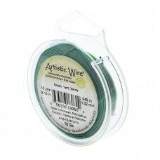 Artistic Wire® vielutė 18 Gauge/1mm Green (žalia) (9m/29.8ft)