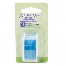 Artistic Wire® vielutė 18 Gauge/1mm Powder Blue (3.6m/11.8ft)