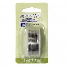 Artistic Wire® vielutė 18 Gauge/1mm Stainless Steel (plieno spalvos) (3.6m/11.8ft)