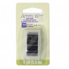 Artistic Wire® vielutė 20 Gauge/0.81mm Black (juoda) (5.5m/18ft)