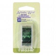 Artistic Wire® vielutė 20 Gauge/0.81mm Green (žalia) (5.5m/18ft)