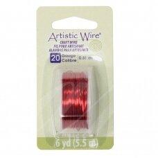Artistic Wire® vielutė 20 Gauge/0.81mm Red (raudona) (5.5m/18ft)