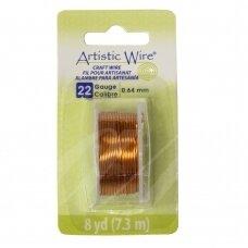 Artistic Wire® vielutė 22 Gauge/0.64mm Natural (7m/23.9ft)