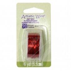 Artistic Wire® vielutė 22 Gauge/0.64mm Red (raudona) (7m/23.9ft)