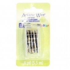 Artistic Wire® vielutė 22 Gauge/0.64mm sidabro, aukso, juodos spalvų (5.5m/18ft)