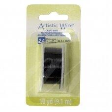 Artistic Wire® vielutė 24 Gauge/0.51mm Black (juoda) (9m/29.8ft)