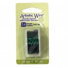 Artistic Wire® vielutė 24 Gauge/0.51mm Green (žalia) (9m/29.8ft)