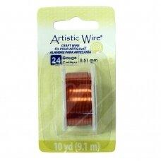 Artistic Wire® vielutė 24 Gauge/0.51mm Natural (9m/29.8ft)
