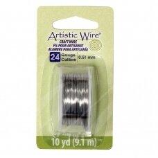 Artistic Wire® vielutė 24 Gauge/0.51mm Stainless Steel (plieno spalvos) (9m/29.8ft)