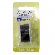 Artistic Wire® vielutė 26 Gauge/0.41mm Black (juoda) (13.7m/44.9ft)