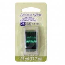Artistic Wire® vielutė 26 Gauge/0.41mm Green (žalia) (13.7m/44.9ft)