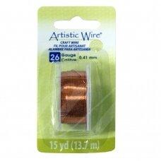 Artistic Wire® vielutė 26 Gauge/0.41mm Natural (13.7m/44.9ft)