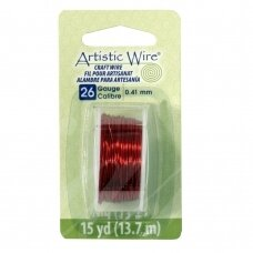 Artistic Wire® vielutė 26 Gauge/0.41mm Red (raudona) (13.7m/44.9ft)
