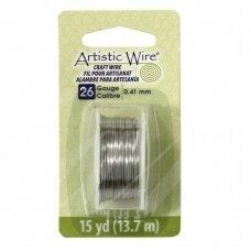 Artistic Wire® vielutė 26 Gauge/0.41mm Stainless Steel (plieno spalvos) (13.7m/44.9ft)