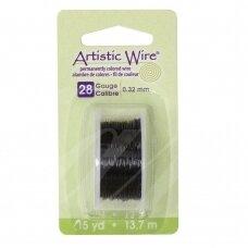 Artistic Wire® vielutė 28 Gauge/0.32mm Black (juoda) (13.7m/44.9ft)