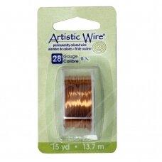 Artistic Wire® vielutė 28 Gauge/0.32mm Natural (13.7m/44.9ft)