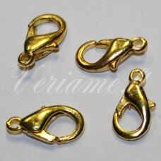 ASPECMD0213 apie 14 x 8 x 3 mm, auksinė spalva, užsegimas, apie 1000 vnt.