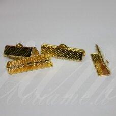 ASPECMD3909.8 apie 20 x 6 mm, šviesi aukso spalva, juostelių užspaudėjas, apie 2000 vnt.